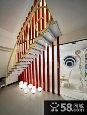 时尚现代别墅室内楼梯效果图片