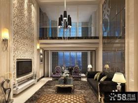 欧式别墅客厅背景墙效果图