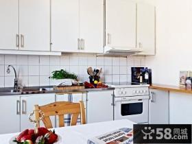轻盈自然简约风小户型厨房装修效果图大全2014图片