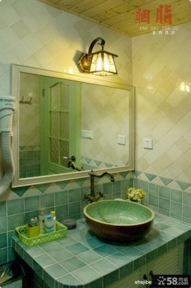 乡村风格70平米小户型洗手间装修样板间