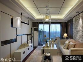 新中式风格两居室客厅装修效果图片