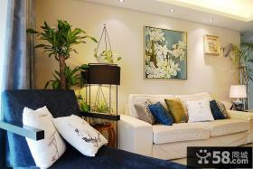 简约新中式两居室客厅装修效果图