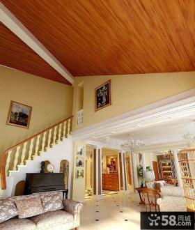 欧式传统室内阁楼楼梯设计效果图