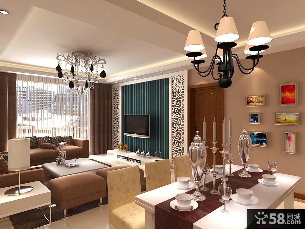 【客厅餐厅装修设计】 - 58同城装修效果图大全