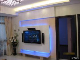 简约电视背景墙设计装修效果图