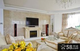欧式客厅电视背景墙设计图片大全