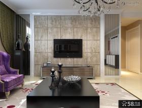 现代室内电视背景墙瓷砖