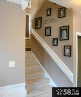 简约时尚楼梯间相片墙图片