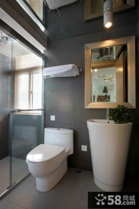 90平米小户型室内卫生间装修效果图大全2014图片