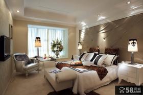 新古典欧式风格一居主卧室飘窗装修效果图