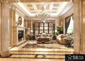 豪华欧式别墅室内家居设计效果图