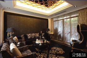 欧式古典四室两厅主卧室装修效果图