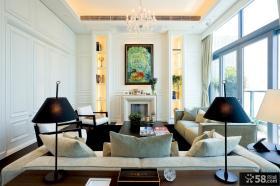 简约风格客厅装饰画效果图