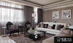新古典客厅窗帘效果图