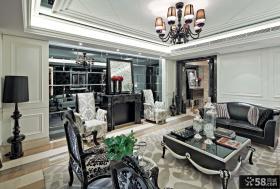 现代新古典风格别墅客厅效果图