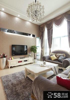 简欧设计客厅电视背景墙图片欣赏大全