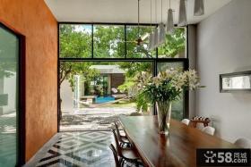 经典奢华的现代美式风格装修效果图阳台图片