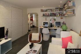 现代混搭风格小客厅装修效果图