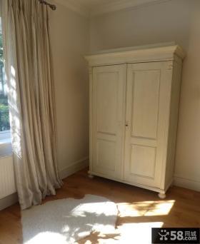 白色实木独立家装衣柜图片