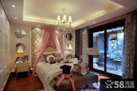 现代欧式风格高档装修卧室