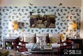 客厅壁纸装饰画