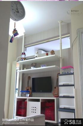 现代风格40平米小户型客厅电视背景墙效果图