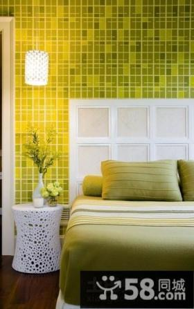 现代简约风格装修图 现代简约卧室背景墙装修效果图