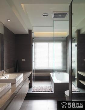 现代室内卫生间吊顶图