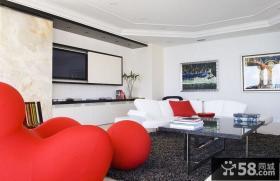 12万打造三居简约风格客厅装修效果图大全2014图片
