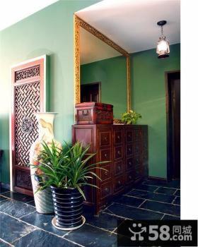 清新中式玄关装潢设计
