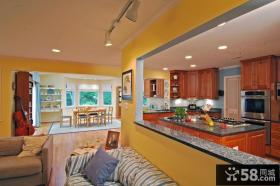 别墅厨房隔断装修效果图片