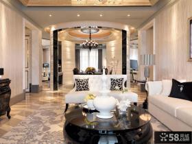 欧式别墅客厅装饰效果图片