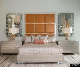 美式乡村风格卧室房间装饰设计效果图