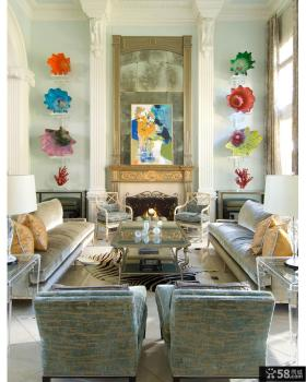 美式乡村风格大别墅室内设计效果图