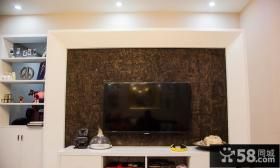 客厅电视背景墙装修壁纸图片