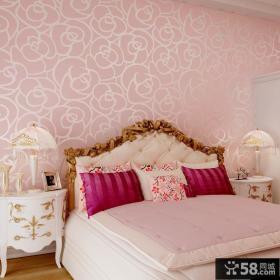 卧室欧式墙纸贴图