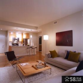 70平米小户型现代客厅装饰效果图