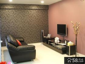 现代小客厅电视背景墙装修效果图