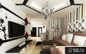 北欧设计装修小客厅电视背景墙图片欣赏