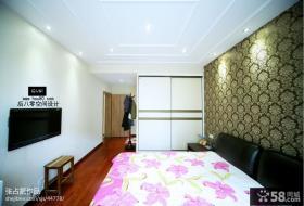 现代简约风格卧室壁纸装修效果图片