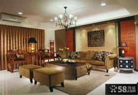 中式现代风格别墅室内装修图片