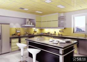 现代简约厨房集成吊顶效果图