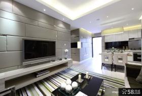 后现代风格客厅软包电视机背景墙设计
