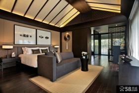 中式风格别墅卧室吊顶装修效果图