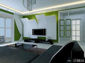 现代简约客厅电视背景墙造型