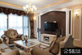 欧式家装壁纸电视背景墙装效果图