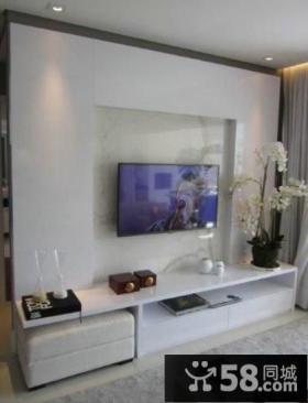 简约家庭设计电视背景墙图