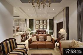 别墅客厅背景墙装饰效果图片