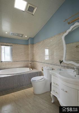 简欧家庭设计复式卫生间图片