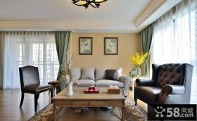 温馨混搭美式客厅布置